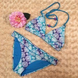 Joe Boxer (K-11) Faux Crochet Print Bikini Mix Sz